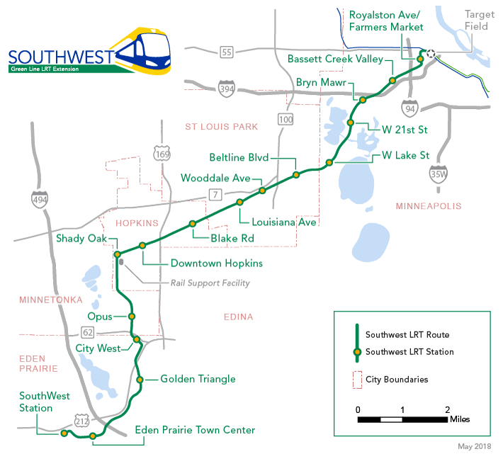 SWLRT Extension Route Map